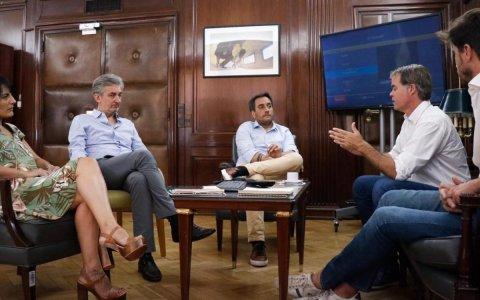Piaggio mantuvo un encuentro con el ministro de ambiente de nación, Juan Cabandié
