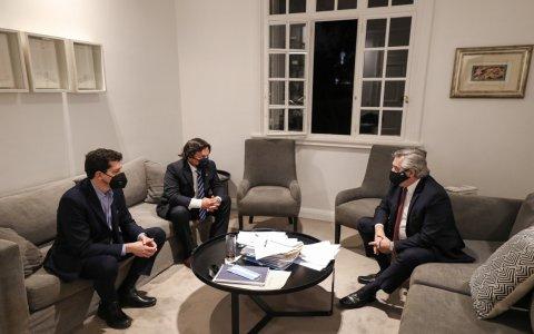 El Presidente Alberto Fernández recibió al gobernador de Salta