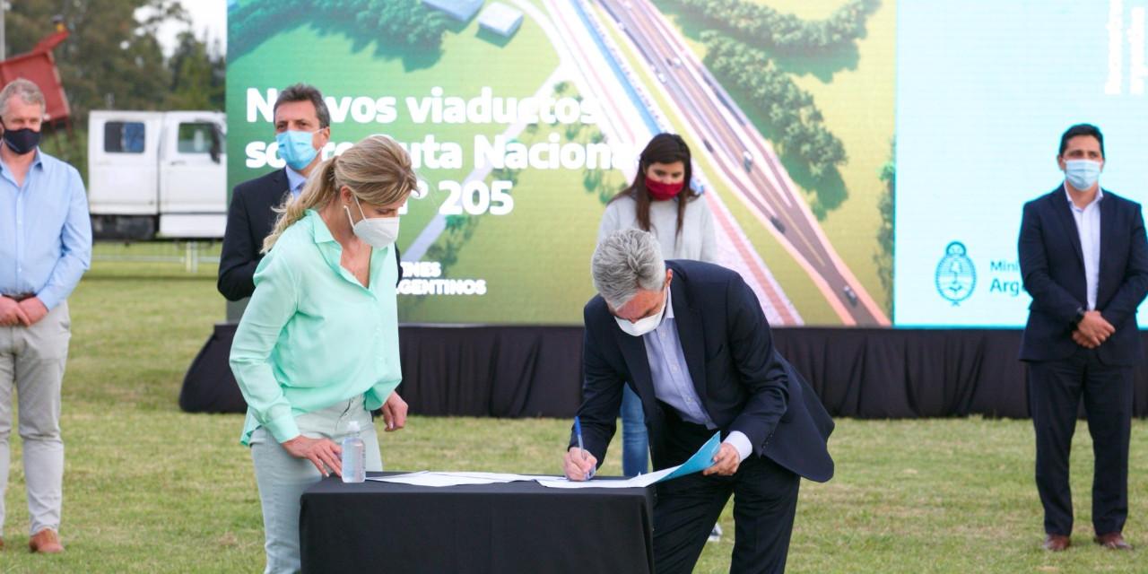 """Meoni anunció 2 viaductos en Cañuelas: """"son obras necesarias que permitirán mejorar la frecuencia del tren"""""""